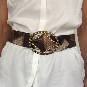 CHICO'S ART DECO CRYSTAL BLING BELT SMALL